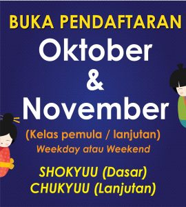 OPEN NEW CLASS OCTOBER & NOVEMBER [ALL CABANG]